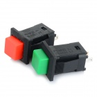 Self-Locking Square Push Button Switches - Red + Green + Black (2 PCS)