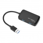 Mobile 1-to-4 USB 3.0 SuperSpeed ​​5Gbps Hub - Musta