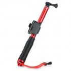 Handheld 4-Section Retractable Remote Control Monopod for GoPro Hero 4 / 3+ / 3 - Black + Red