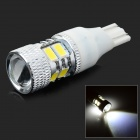 HH-088 T15 5W 210lm 1200K LED Cool White Backup light Indicator lamp - White + Silver (12~24V)