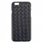 "Stylish Woven Texture 2-in-1 PU capa de couro w / suporte para o iPhone 6 Plus 5.5 ""- Deep Blue"