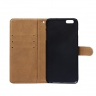 "Stylish Woven Texture 2-in-1 PU Leather Case w/ Holder for IPHONE 6 Plus 5.5"" - Deep Blue"