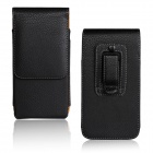 "Lichee Pattern Protective PU Leather Case w/ Belt Clip for IPHONE 6 4.7"" - Black"