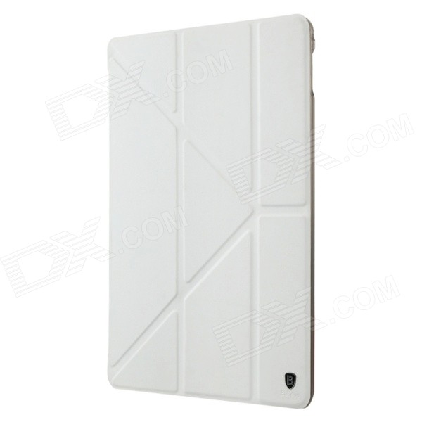 все цены на Baseus LTAPIPAD6-PS02 Protective PU Leather Case w/ Stand for IPAD AIR 2 - White онлайн