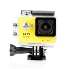 "EOSCN W7 HD 1080P Waterproof 2/3"" CMOS 12MP Sports Camera - Yellow"
