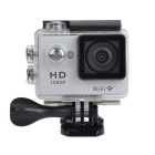 "EOSCN W7 HD 1080P Waterproof 2/3"" CMOS 12MP Sports Camera - Silver"