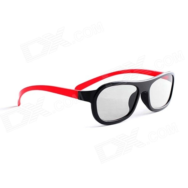 Xiaomi Fashion PC Frame TV 3D Spectacles Polarized Eyeglass - Red + Black babiators limited polarized жизнь копакабана copacabana life 0 3