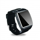 "GUMBO-008 GSM Smart Watch Phone w/ 1.54"" Capacitive Touch Screen, BT, FM, Quad-band - Black"