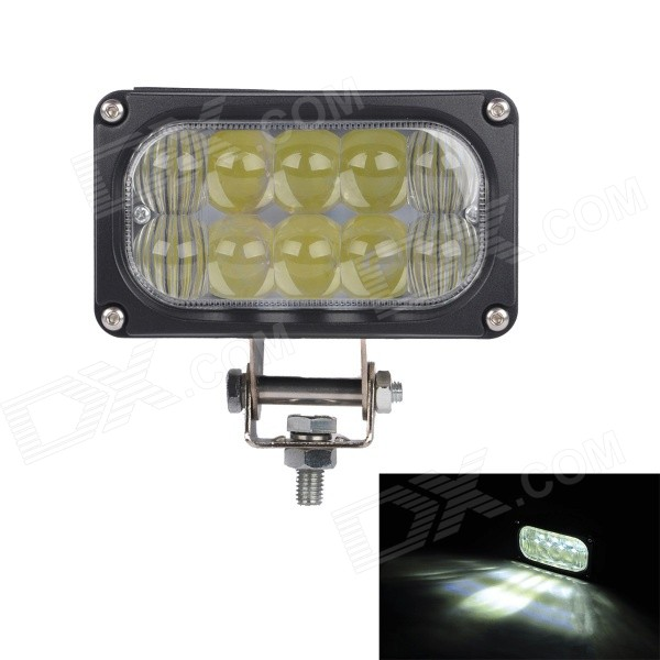 MZ H4 30W 2550lm 6000K White Flood + Spot Beam LED Worklight Car Headlamp UTV Driving Light guleek 60w type h 4200lm 6000k 6 led white flood spot light worklight bar for car boat