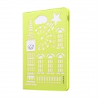USAMS Hollow-out beschermende TPU + pu Case w / stand / Auto Sleep voor IPAD AIR 2 - Fluorescent Green