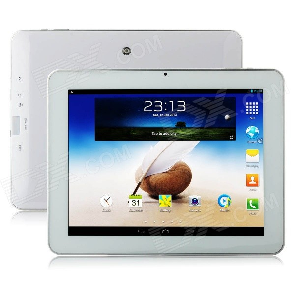 Ampe A90 3G 9.7 Android 4.2 Quad-Core Tablet PC w/ 8GB ROM, TF, GPS, Wi-Fi, Bluetooth - White