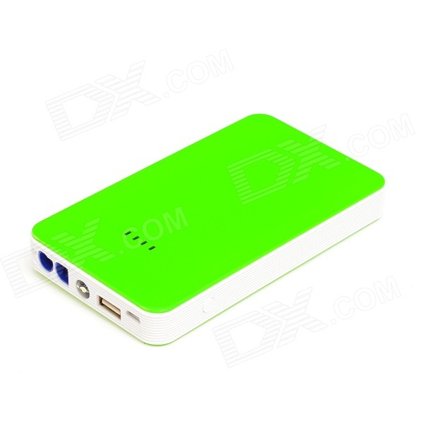 Multifunction Super Thin 8000mAh Car Automobile Emergency Start Power - Green (12V)