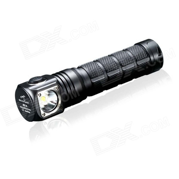 SKILHUNT H02R 860LM Cree XM-L2 5-Mode Cool White Light Flashlight w/ Strap - Black (1 x 18650) 950lm 3 mode white bicycle headlamp w cree xm l t6 black silver 2 x 18650