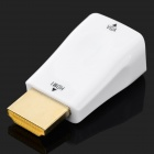 H79 HDMI Male to VGA Female Adapter - White