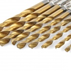 13-in-1 Woodworking High-Speed Steel Hex Shank Twist Drill Bit Set - Gold + Silver