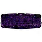 M-200 USB 2.0 Wired 114-Key Backlit Burst Crack Style Gaming Keyboard - Black