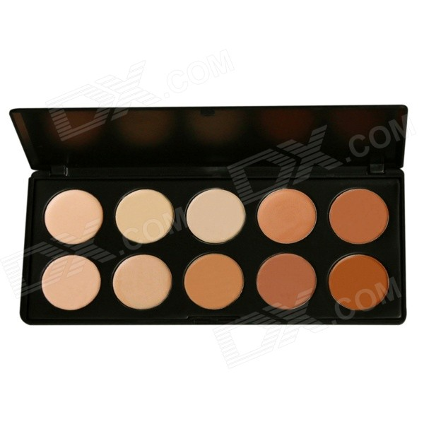 HANSHA P10 10-Color Make-Up Talcum Powder Concealer Palette - Beige + Brown + Multicolored