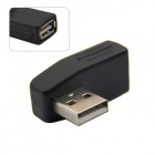 CY U2-031 90 Degree Left Angled USB 2.0 Male to Female Extension Adapter - Black