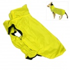 Water-resistant Nylon + Fleece Jacket for Pet Dog - Light Yellow (Size L)