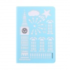 USAMS Hollow-Out Protective TPU + PU Case w/ Stand / Auto Sleep for IPAD AIR 2 - Light Blue