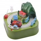 CH0006-2 Plastic Cute Train Style Coin Bank - Green + Red + Multi-Color