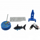 Remote Control Electronic Shark Style Toy - Black + Blue + Multi-Color