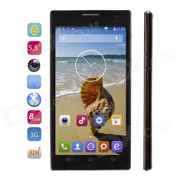 VOTO X6HD Android 4.4 Octa-Core WCDMA Phone w/ 5.5 IPS, 8GB ROM, GPS, WiFi, BT, FM - Black appleme291 оригинального молния usb iphone ipad ipod кабель кабель 0 5 м
