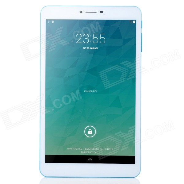 Colorfly G808 3G 8 IPS Octa-Core Android 4.2 Tablet PC w/ 1GB RAM / 8GB ROM -  White + Blue sosoon x88 quad core 8 ips android 4 4 tablet pc w 1gb ram 8gb rom hdmi gps bluetooth white