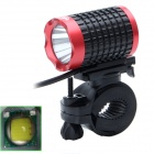 ZHISHUNJIA Lr-360K1E-1R 810lm 6-Mode White LED Bicycle Lamp w/ Bike Mount - Black + Red (4 x 18650)