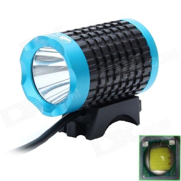 ZHISHUNJIA 810lm 6-Mode White Light LED USB Bike Lamp / Headlamp - Black + Blue