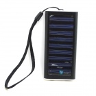 Itian 1350mAh Solar Powered External Battery Power Bank - Black