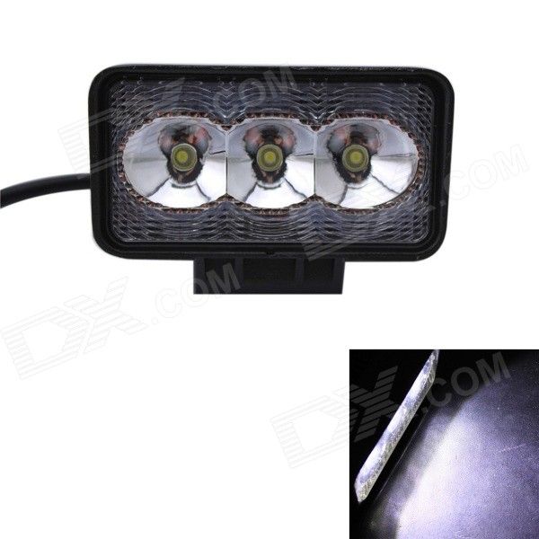 GULEEK B09F 9W 600lm 6000K 3-LED White Flood Beam Work Light for Car / Boat guleek 60w type h 4200lm 6000k 6 led white flood spot light worklight bar for car boat