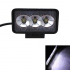 GULEEK B09F 9W 600lm 6000K 3-LED White Flood Beam Work Light for Car / Boat