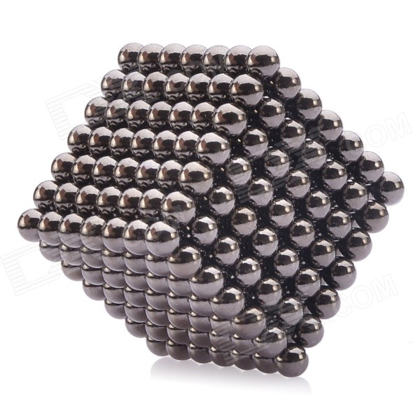 NEJE 5mm Magnetic Balls Beads Sphere Cube Puzzle Neocube Intelligence Toy - Black (343 PCS) new style 432pcs mini 3mm diameter magnetic ball sphere neodymium puzzle ndfeb novelty toy for kids children