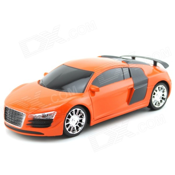 YDL-168B-1 Mini 1:24 Scale 27MHz 2-CH Remote Control Car - Orange + Black