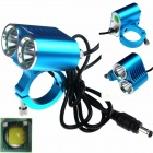 ZHISHUNJIA ZSJ-P22B 1600lm 4-Mode White Light 2-LED Bicycle Lamp - Blue (4 x 18650)
