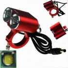 ZHISHUNJIA ZSJ-P22R 1600lm 4-Mode White Light 2-LED Bicycle Lamp - Red (4 x 18650)