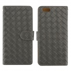 "Stilvolle Woven Texture 2-in-1-PU-Lederetui w / Halter für iPhone 6 Plus 5,5 ""- Gray"