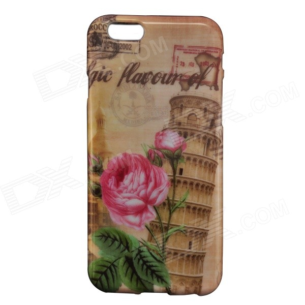Leaning Tower of Pisa & Flower Pattern Protective Plastic Back Case for IPHONE 6 4.7