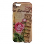 Leaning Tower of Pisa & Flower Pattern Protective Plastic Back Case for IPHONE 6 4.7""
