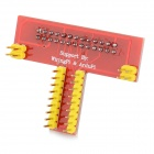GPIO Shield Extension Board for Raspberry Pi - Red + Silvery Grey