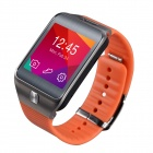 "No.1 G2 MTK2502 1.54"" Bluetooth V4.0 Smart Watch w/ Heart Rate, Pedometer, Camera - Orange + Black"