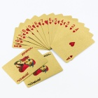 100 USD Pattern Poker Playing Cards Spill Poker - gylne