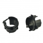 CARKING Car HID Bulb Holder Socket Adaptadores para KIA K3 - Negro (2 PCS)
