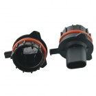 CARKING Car H7 HID Xenon Head Bulb Adapter Sockets Black for BMW E39 (2 PCS)
