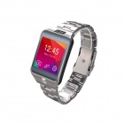 "No.1 G2 MTK2502 1.54"" Bluetooth V4.0 Smart Watch w/ Heart Rate, Pedometer, Camera - Silver"