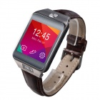 "No.1 G2 MTK2502 1.54"" Bluetooth V4.0 Smart Watch w/ Heart Rate, Pedometer, Camera - Reddish Brown"