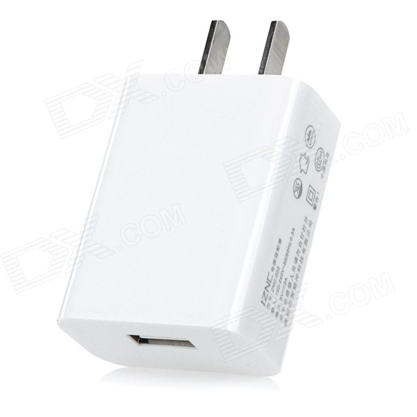 iznc ZNC-022 Universal 2A / 5V USB-Port Wall Charger Power Adapter for Cellphones - White (US Plug) iznc znc 021 universal dual usb ac power charger adapter for iphone ipad white us plug