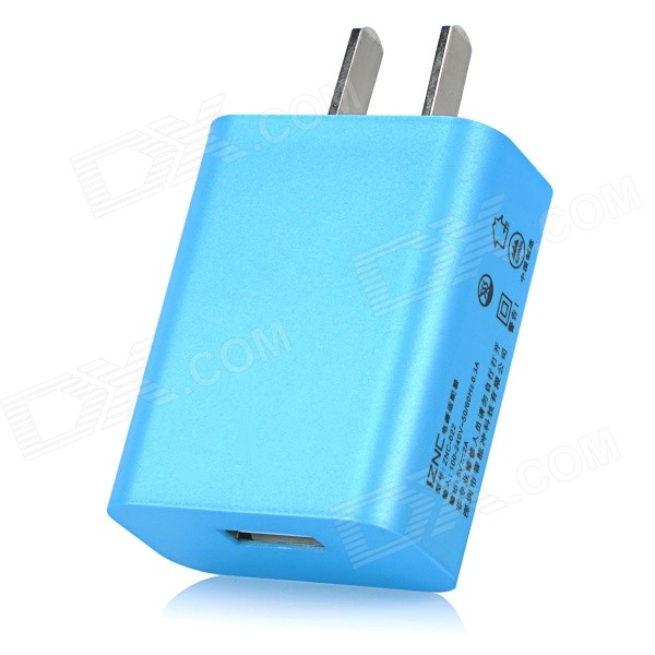 iznc ZNC-022 Universal 2A / 5V USB-Port Wall Charger Power Adapter for Cellphones - Blue (US Plug) iznc znc 021 universal dual usb ac power charger adapter for iphone ipad white us plug