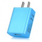 iznc ZNC-022 Universal 2A / 5V USB-Port Wall Charger Power Adapter for Cellphones - Blue (US Plug)